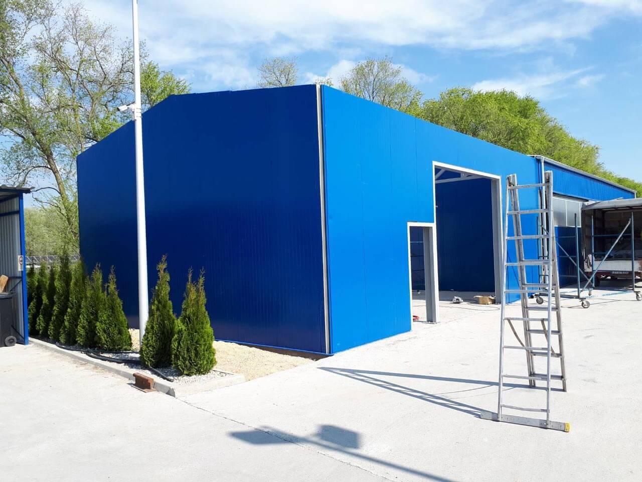 Acélszerkezet gyártás: Acélvázas garázs, gépkocsi beálló, tároló, előtető